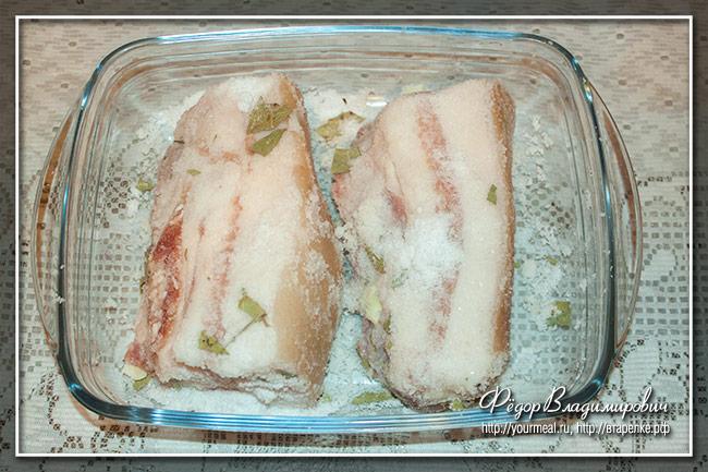 Соленая свиная щековина