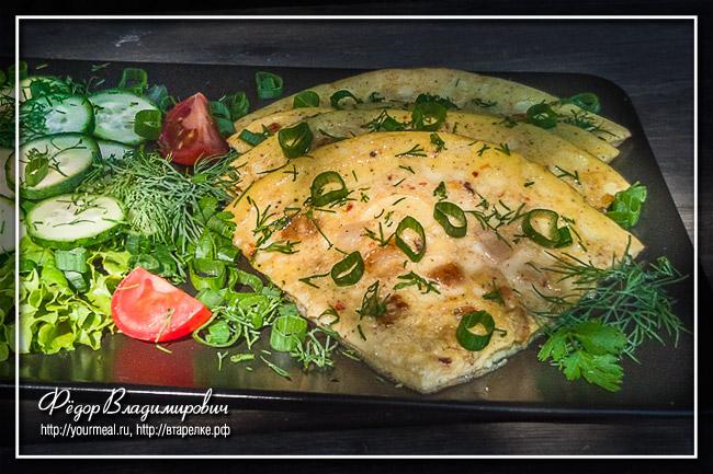 Колотуха - белорусский омлет с салом