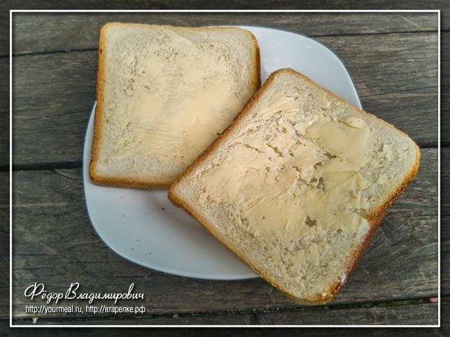 Классический английский сэндвич с яйцом и огурцом