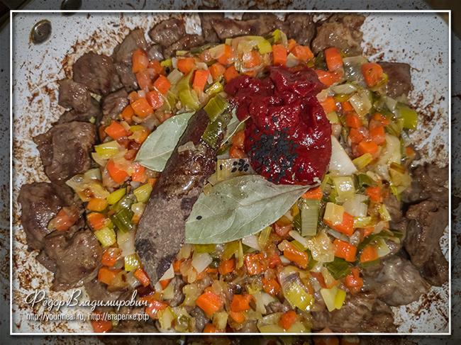 Гюветси (юветси) говядина с пастой орзо